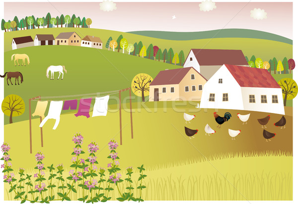 Geur zomer home vreedzaam dorp familie Stockfoto © MyosotisRock