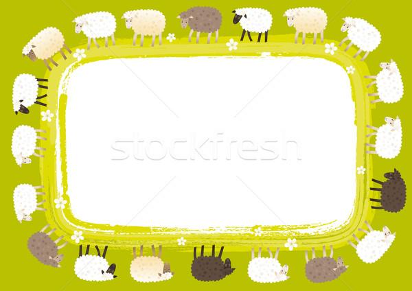 Sheep card Stock photo © MyosotisRock