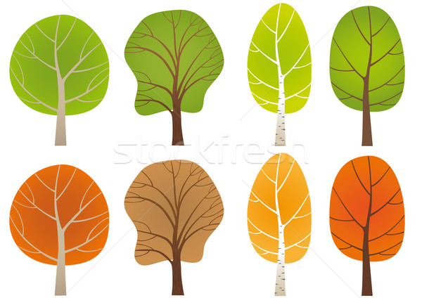 Set of trees Stock photo © MyosotisRock