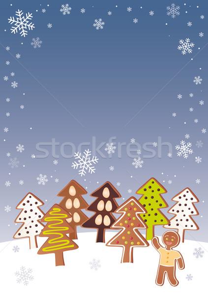 Gingerbread Christmass trees Stock photo © MyosotisRock