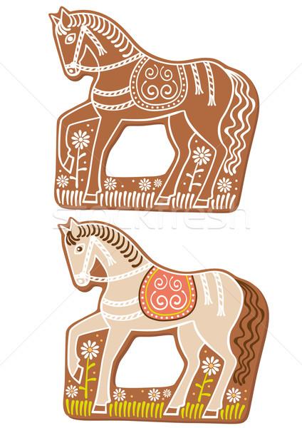Stock photo: Gingerbread horses