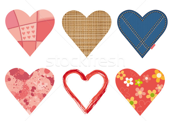 Hearts set Stock photo © MyosotisRock