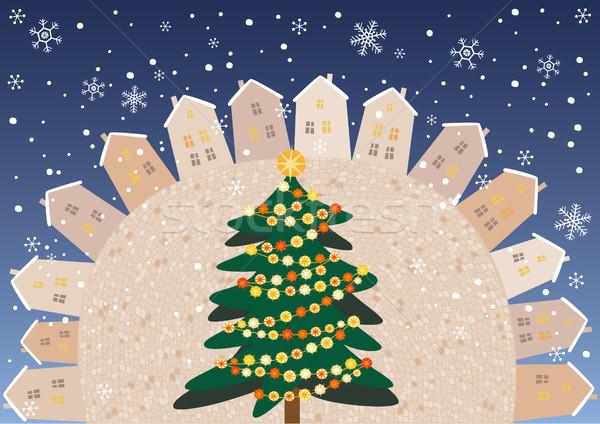 Christmas square Stock photo © MyosotisRock