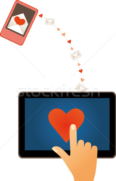 Stock photo: Electronic love