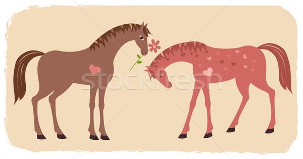 Horses and professions of love Stock photo © MyosotisRock