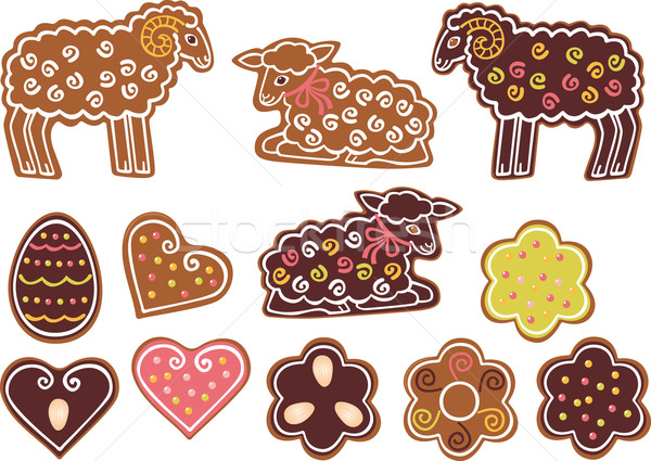 Easter gingerbread cookies Stock photo © MyosotisRock