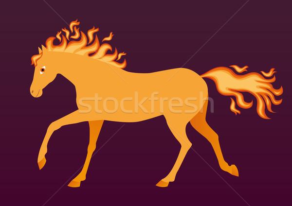 Fiery horse Stock photo © MyosotisRock