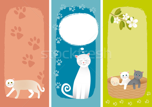 Banners with cats Stock photo © MyosotisRock