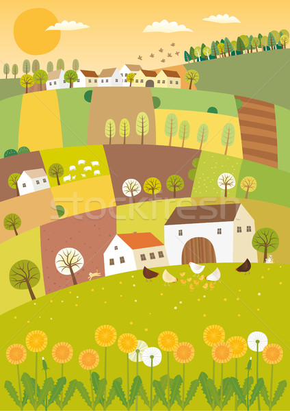 Stock photo: Spring agriculture landscape