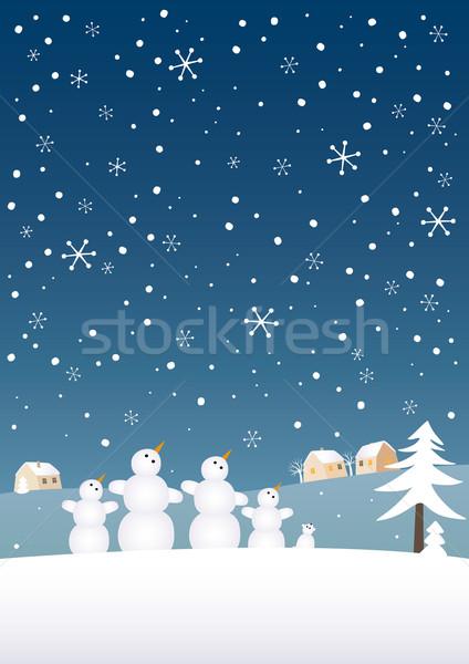 Stock photo: Snow family