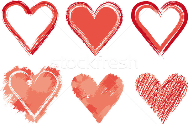 Painted heart Stock photo © MyosotisRock
