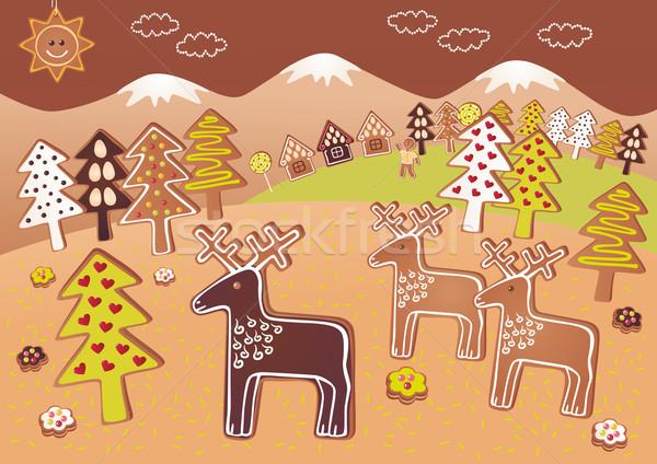 Gingerbread deers Stock photo © MyosotisRock