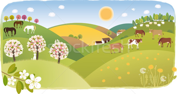 Stock photo: Spring highland