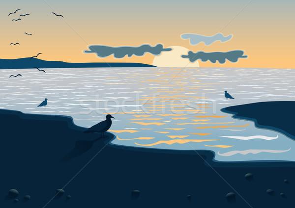 Sea at the sundown Stock photo © MyosotisRock