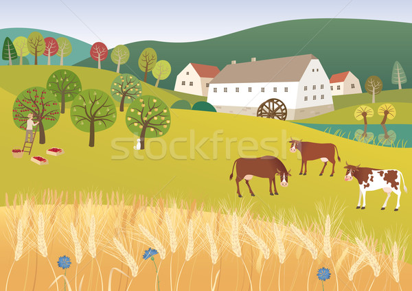 Organic farm Stock photo © MyosotisRock