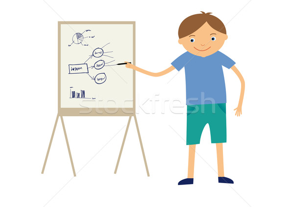 Stock photo: Boy at school