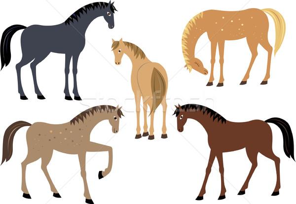 Stock photo: Set of horses