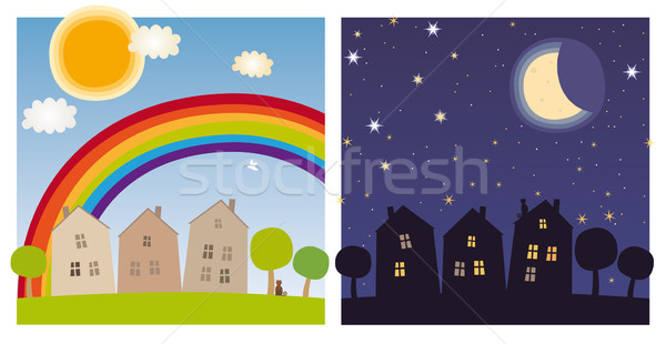 Day and night Stock photo © MyosotisRock