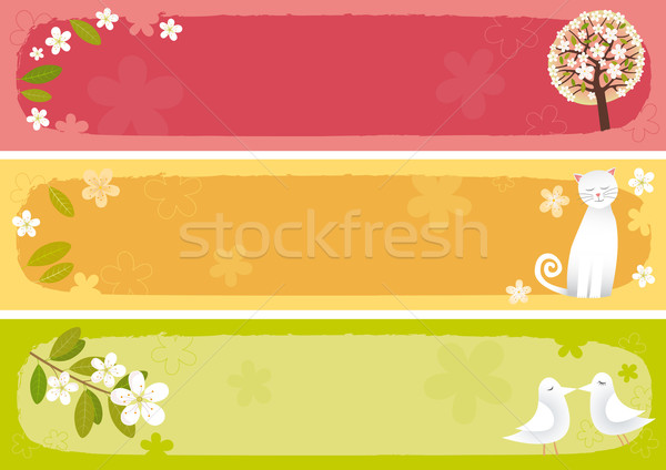 Spring banners horizontal Stock photo © MyosotisRock