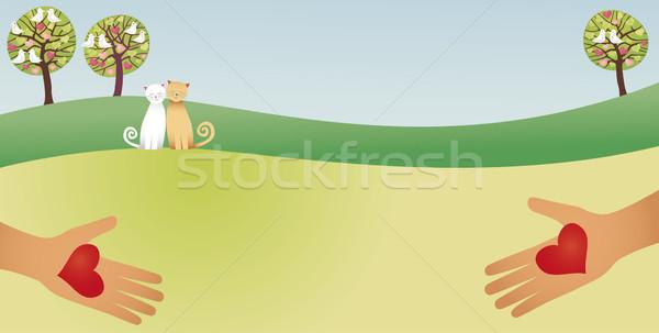Loving countryside Stock photo © MyosotisRock