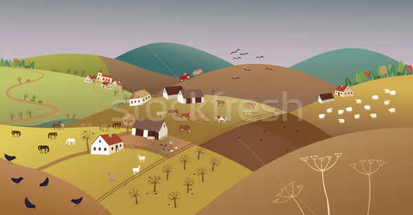 Late fall farmer landscape Stock photo © MyosotisRock