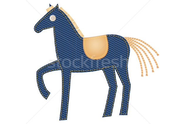 Stock photo: Denim horse