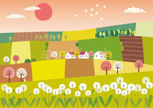 Spring agriculture landscape Stock photo © MyosotisRock