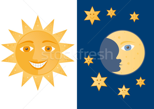 Stock photo: Day and night