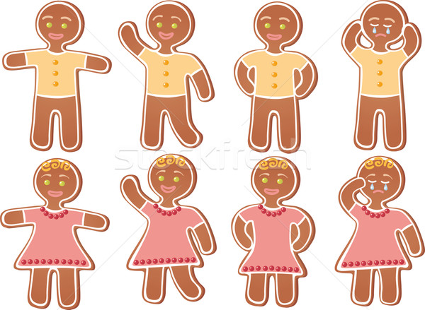 Stock photo: Gingerbread person