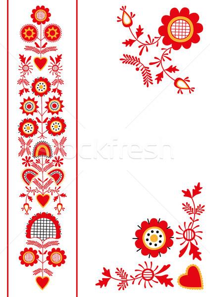 Folk ornament from South Bohemia (Pelhrimov region) Stock photo © MyosotisRock