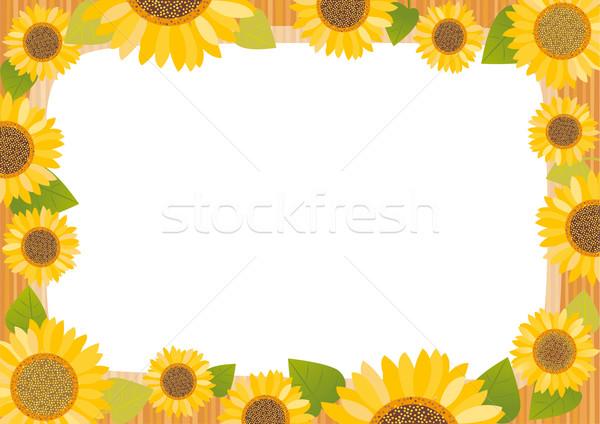 Sunflower card Stock photo © MyosotisRock
