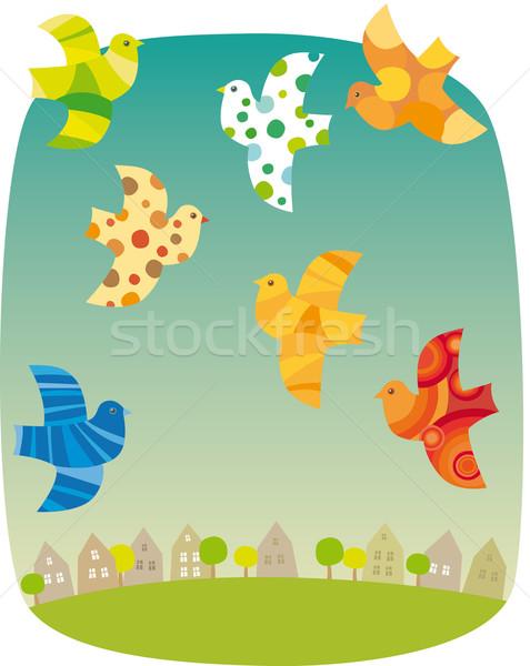 Stock photo: Birds