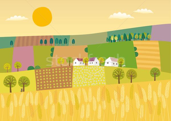 Agriculture landscape Stock photo © MyosotisRock