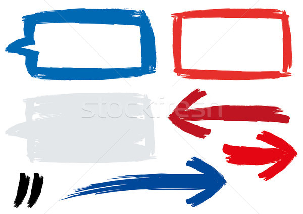 Stock photo: Painted segments