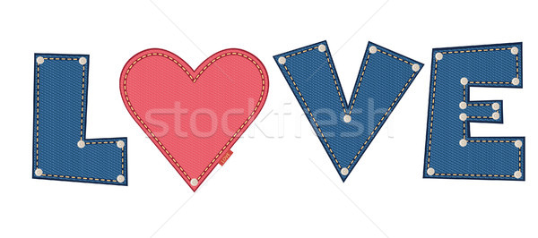 Denim love Stock photo © MyosotisRock
