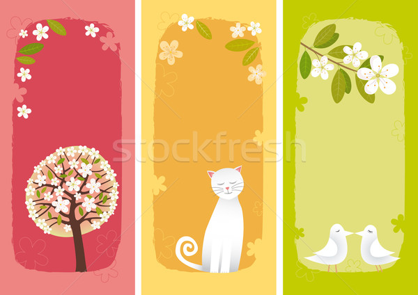 Spring banners vertical Stock photo © MyosotisRock