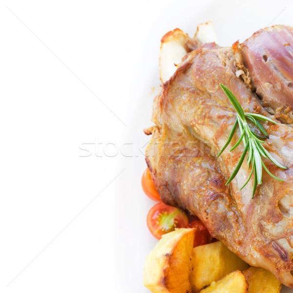Borjúhús krumpli finom pörkölt sült étel Stock fotó © mythja