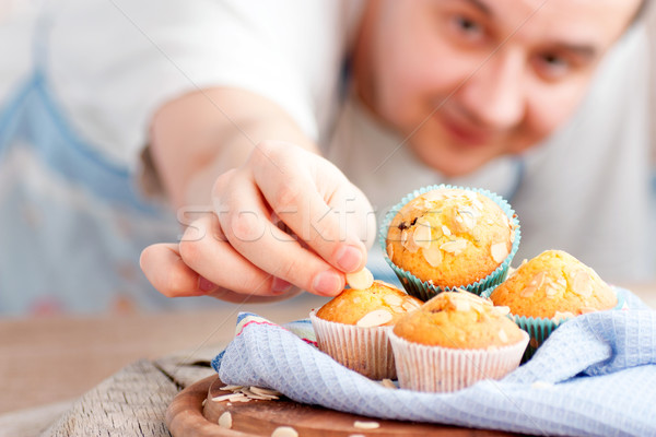 Delicious muffins Stock photo © mythja
