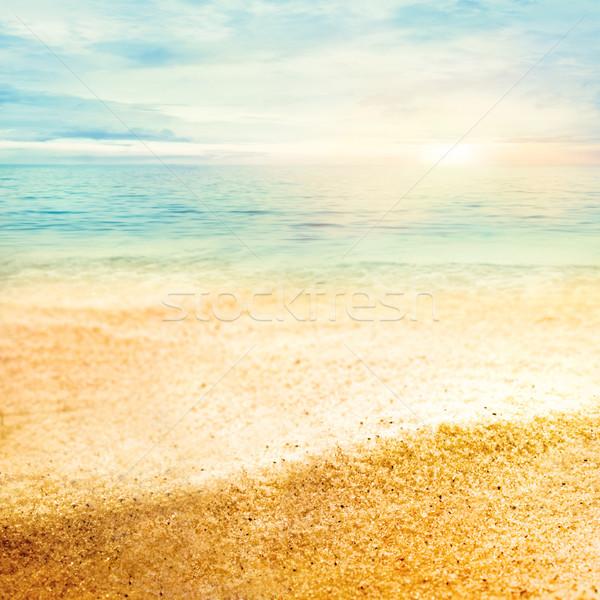 Sunset and  fine sand Stock photo © mythja