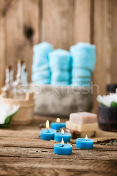 スパ 健康 花 タオル 自然 製品 ストックフォト © mythja