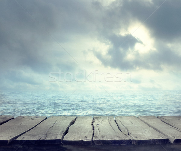 Summer background with table Stock photo © mythja