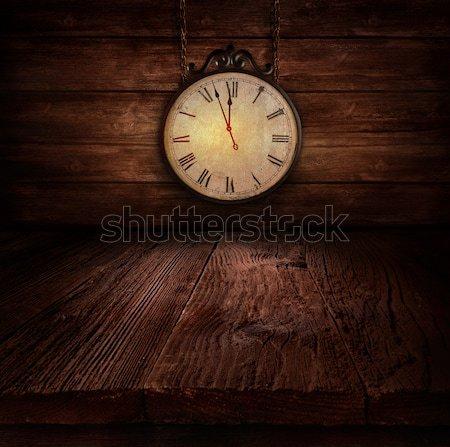 New Year design - Ticking clock Stock photo © mythja