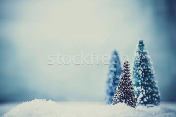 Natale natale neve biglietto d'auguri design Foto d'archivio © mythja