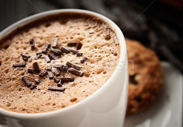 Kahve beyaz fincan çikolata uzay Stok fotoğraf © mythja