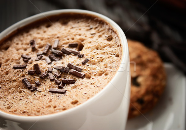 Cappuccino café blanche tasse chocolat espace Photo stock © mythja