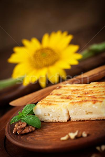 Queijo torta bolo flor Foto stock © mythja