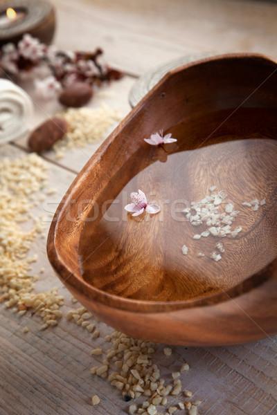 自然 スパ 健康 石鹸 キャンドル タオル ストックフォト © mythja