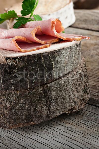 Stock photo: Fresh ham