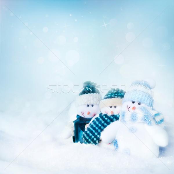 Tre cielo neve segno spazio Foto d'archivio © mythja