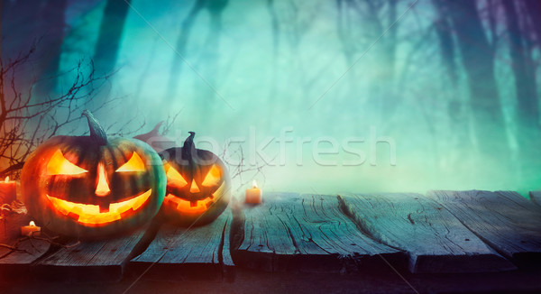 Photo stock: Halloween · design · forêt · morts